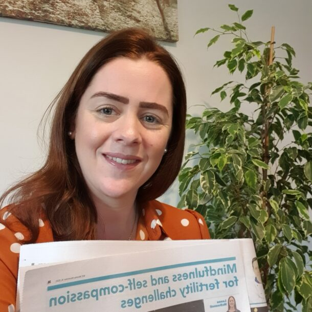 Leona with her article